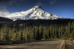 Mount Hood Oregon snow cap scenic mountain