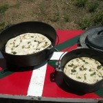 Dutch oven bread in the Basque tradition