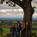 Oregon Heritage Tree Committee Members at the Witness Tree (photo taken by Paul Reis)