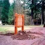Santiam Wagon Rd marker
