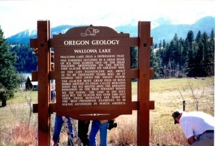 Wallowa Lake Marker