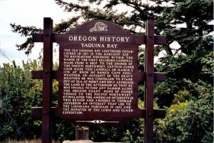 Yaquina Bay Marker