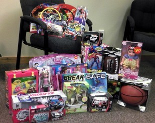 A small portion of the toys donated by OTE staff to the Toys for Joy Program.