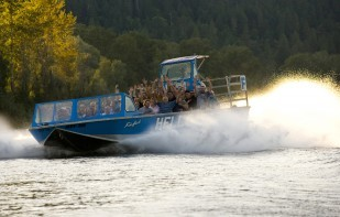 Image of OTE highway business sign customer, Hellgate Jetboat excursions