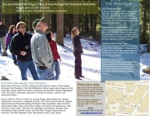 Image of Oregon Heritage Tree Statewide invitation