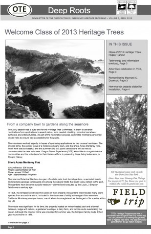 Image of Oregon Travel Experience's heritage publication Deep Roots