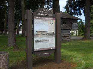 New Oregon Historical Marker at Dayton