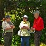 A Shore Acres park ranger with members of the event.