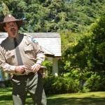Ranger Preson Philips speaks at the dedication.