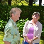 Heritage Tree committee member Arne Nyberg and his wife attended the ceremony.