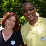 OTE's Jenn Smith and Oregon Travel Information Council member Ed Washington are happy to be at the dedication.