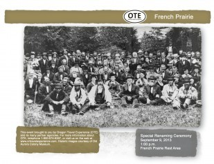 French Prairie Rest Area Ceremony
