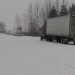 Trucks were mired at Santiam northbound, causing a 48 hour closure.
