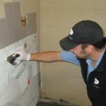 John Garmon prepares for new tile