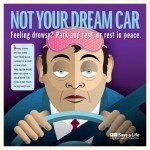 Drowsy driving poster from Texas