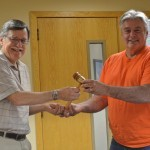 Outgoing Chair Al Tocchini passed the gavel to newly elected Chair Roger Brandt