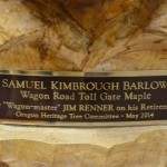 Detail from the award to Jim Renner