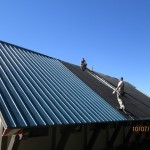 Laying down a new roof