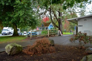 Santiam rest area grounds.