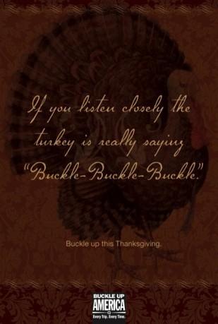 Be safe, buckle, buckle, buckle