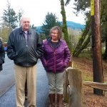 OTIC members Mike Drennan and Kathy Watson tour the Tillamook Rest Area with OTE employees