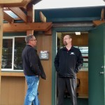 ODOT's Troy Costales talks with OTE's Dave Schrom