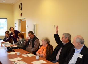 Meeting participants included Tillamook Commission Chair Tim Josie and Nehalem Mayor Shirley Kalkhoven.