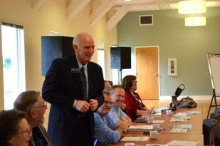 Tillamook Commissioner Mark Labhart at the OTE pilot project meeting