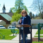 Lafayette Council President Marie Sproul acted as stand-in Mistress of Ceremonies.