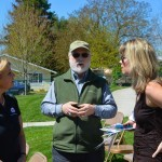 OTE Executive Director Nancy DeSouza, Bob Keeler of the Oregon Historical Marker Committee, and Sheri King visit after the dedication.