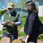 Oregon Historical Marker Program Committee member Bob Keeler with OTE's Annie von Domitz.