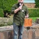 Brian jokes with the crowd after receiving the Memorial Drawson Heritage Tree Award.
