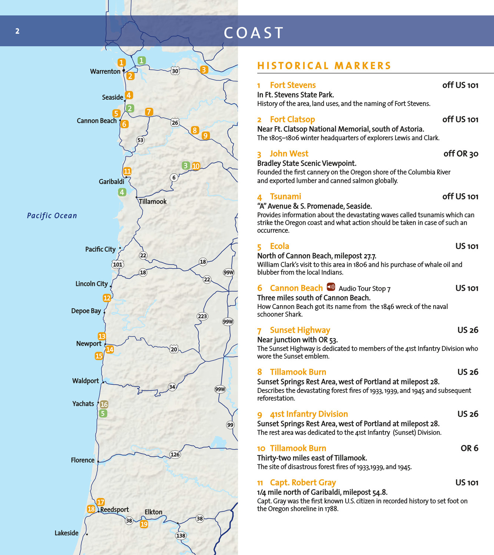 OTE Heritage Program Online Brochure Oregon Travel Experience - Fort clatsop on map of us