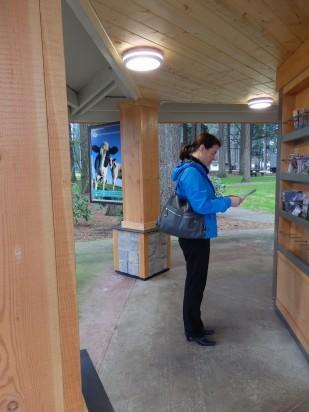 French Prairie kiosk displays