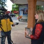 OTE Executive Director Nancy DeSouza with reporter.