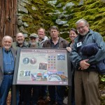 Oregon Historical Marker Committee Members, from left: George Forbes, Richard Engeman, Robert Keeler, Clark Niewendorp, Marty Klug, Annie von Domitz and David Porter