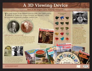 Image of Oregon Travel Experience Historical Marker honoring the View-Master inventors